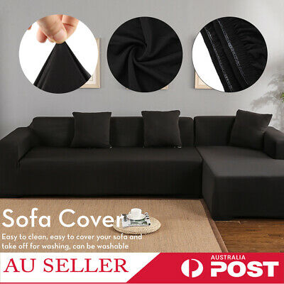 AU41.99 • Buy NEW Stretch Elastic Couch Sofa L Shape Lounge Covers 3+2 Seater Cover Slipcover