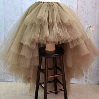 High Low Tiered Puffy Tulle Skirts For Women Special Designed Floor Length Long  • 33.61£