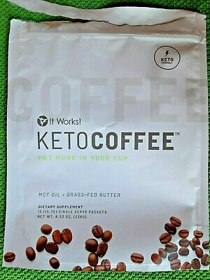 $17.99 • Buy It Works! KetoCoffee Keto Coffee 6 Single Serve Packets - New! Carb Management