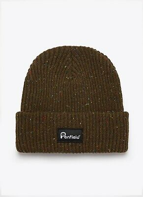 Penfield Harris Beanie And Matching Gloves, Dark Olive Colour, RRP£50 • 29£