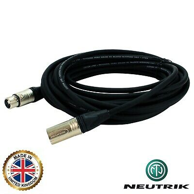 Neutrik PRO POWERED ACTIVE SPEAKER CABLE. Balanced Male XLR To Female XLR • 14.63£