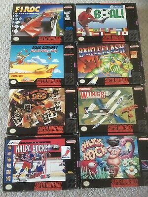 $ CDN175 • Buy Super Nintendo Snes Games Lot Boxed Collection Of 8