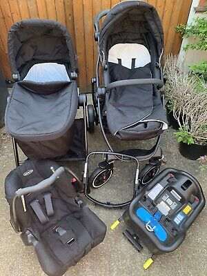 Graco Evo XT Travel System With Carry Cot Stand • 150£