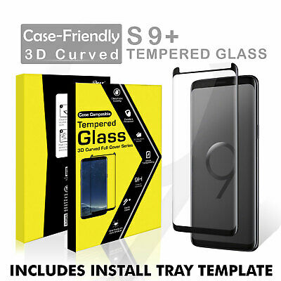 $ CDN6.99 • Buy For Samsung Galaxy S9+ Plus Glass Screen Protector Case Friendly + Install Tray
