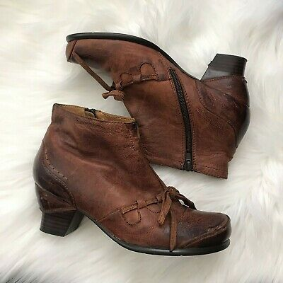 $60 • Buy Everybody By Az Moda Leather Ankle Boots, Brown Size 37.5 Anthropologie