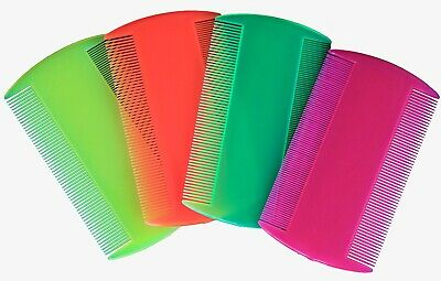 Sutherland Neon Head-lice, Double Sided Nit Comb For Kids, Pets X 4 • 1.90£