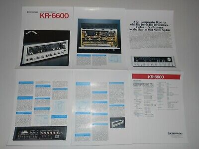 $9.99 • Buy Kenwood KR-6600 Receiver Brochure, 6 Pages, Specs, Articles, Very Rare!