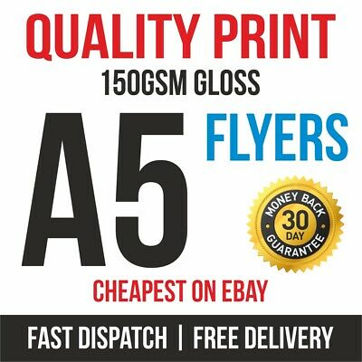 £8.95 • Buy 1000 A5 Flyers Leaflets Printed Full Colour 150gsm Gloss Quality Print Fast