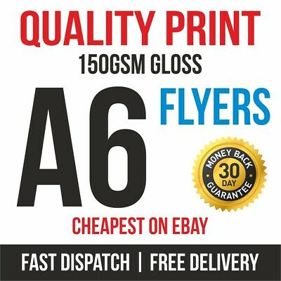 £9.95 • Buy 1000 A6 Flyers Leaflets Printed Full Colour 150gsm Gloss Quality Print Fast