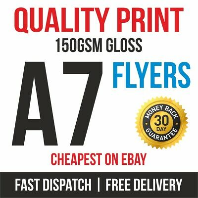 £5.95 • Buy 1000 A7 Flyers Leaflets Printed Full Colour 150gsm Gloss Quality Print Fast 99p