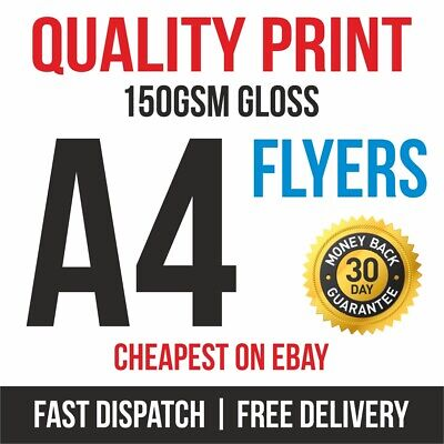 £16.45 • Buy 1000 A4 Flyers Leaflets Printed Full Colour 150gsm Gloss Quality Print Fast