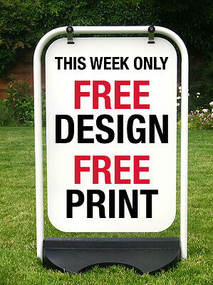 Large Pavement Sign Shop Sign Swing Sign A Board Sandwich Board Free Printing • 85.95£