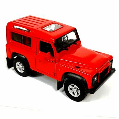 1/38 Scale Die Cast RED Land Rover Defender - Model Toy Car - Diecast Gift Idea • 11.99£