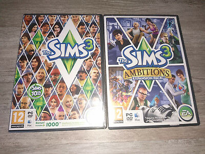 The Sims 3 + Ambitions Expansion Pack Pc Dvd-rom - Mac Base Game • 9.99£