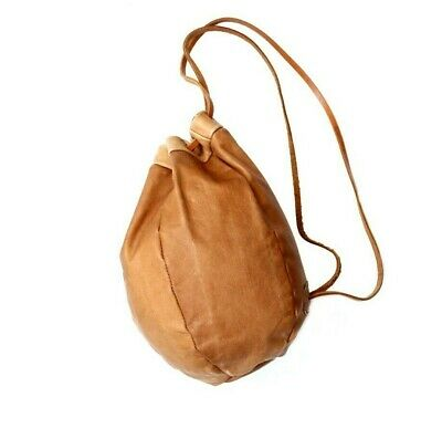 AU192.23 • Buy 70s Vintage Drawstring Leather Backpack Bucket Shoulder Bag Ball Rucksack 80s