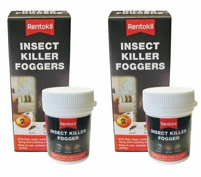 4 X Rentokil Insect Killer Foggers Kills Fly Flies Flea Moths • 18.90£