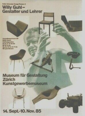AU116.25 • Buy Original Vintage Poster SWISS FURNITURE DESIGN W.GUHL 1985