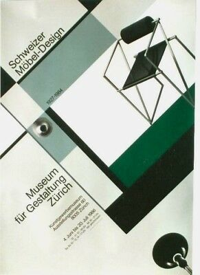AU129.17 • Buy Original Vintage Poster SWISS FURNITURE DESIGN EXPO 1986