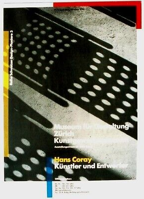 AU180.83 • Buy Original Vintage Poster SWISS FURNITURE DESIGN H.CORAY 1986