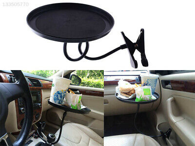 $12.94 • Buy E438 Car Auto Swivel Clip Mount Travel Drink Cup Table Stand Tray Black Stable