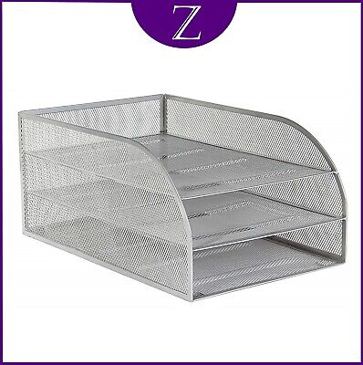 £16.95 • Buy Mesh Letter Tray By Osco With 3 Trays In Silver And Free Delivery