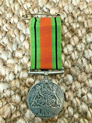 £50 • Buy The Defence Medal With Ribbon And Pin. War Memorabilia