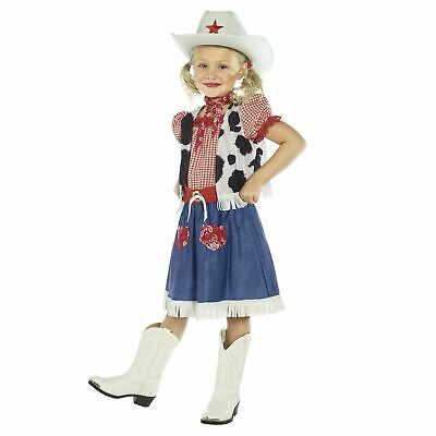 £13.80 • Buy Cowgirl Sweetie Costume Kids Girls Child Cowboy Fancy Dress Outfit Wild West New