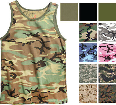 $13.99 • Buy Camo Tank Top Sleeveless Muscle Tee Camouflage Tactical Army Military A T-Shirt