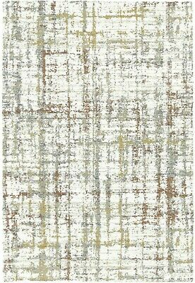 Abstract Cream Multi Coloured Modern Contemporary Thick Berber Durable Area Rugs • 147.95£
