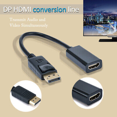 Display Port DP Male To HDMI Female Converter Adapter Cable Wire For Laptop TV • 2.69£