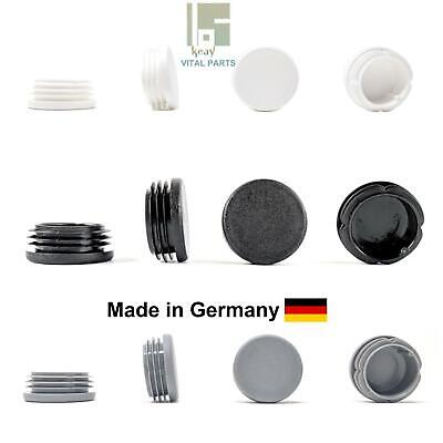 40mm Round Plastic Blanking End Caps Pipe Tube Inserts Plugs Bungs • 9.10£
