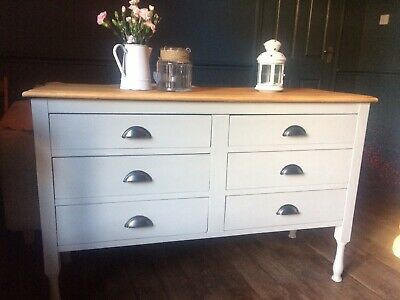 Annie Sloan/hand Painted/chest Of Drawers/sideboard/paris Grey/shabby Chic • 75£