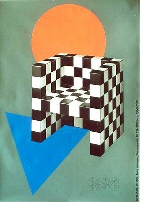 AU387.50 • Buy Original Vintage Poster SWISS CERAMIC FURNITURE DESIGN C.1985