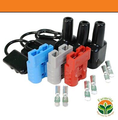 AU19.95 • Buy Anderson Plug Kit 3 Colours 50 Amp Lug Including Front And Back Dust Covers