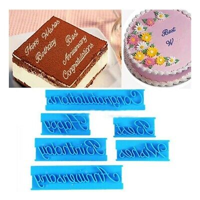 £3.38 • Buy Cutter Decorating Icing Happy Birthday Letter Sugarcraft Mould Cake Mold