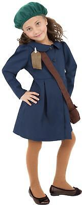 1940s Wartime School Girl Costume Book Day Girls Fancy Dress Kids Outfit • 12.99£