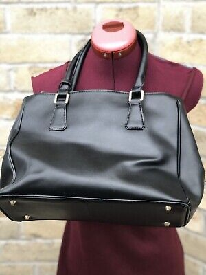 $ CDN42 • Buy Danier Genuine Leather Black Shoulder Handbag Large