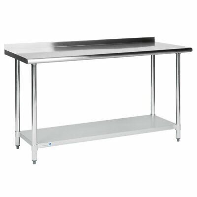 $142.95 • Buy Commercial 24  X 60  Stainless Steel Work Prep Table With BACKSPLASH Kitchen NSF