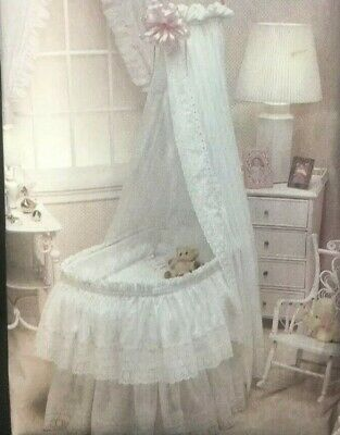 $9.99 • Buy Vogue Sewing Pattern 2869 Baby Bassinet Accessories Comforter Skirt Eyelet Lace