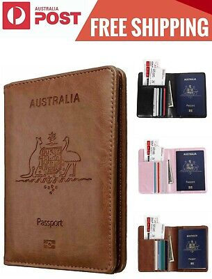 AU8.89 • Buy Passport Wallet Travel Cover Case, RFID Blocking Passport Travelling Holder