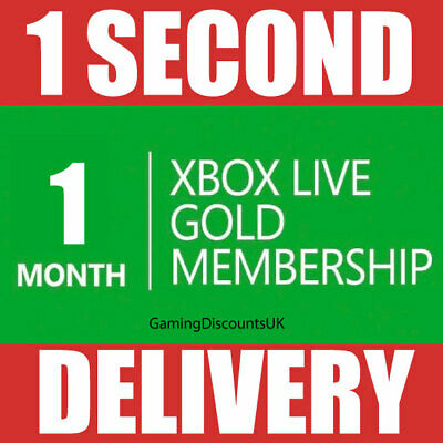 $ CDN8.68 • Buy 1 MONTH GOLD - Xbox Live Membership Pass - Instant Delivery - Xbox One, Xbox 360