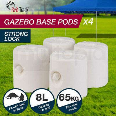 AU59 • Buy RED TRACK Gazebo Base Pod Kit Marquee Set Leg Fillable Water Sand Weight Pods