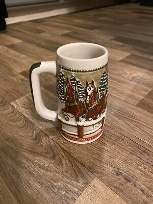 $ CDN66.75 • Buy Vintage 1984 Budweiser Holiday Beer Mug Stein Ceramarte