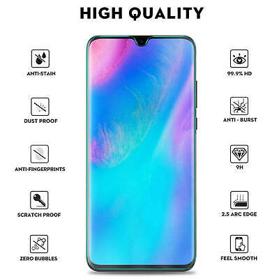 For Huawei P20 Pro Lite P30 Premium Protection Tempered Glass Screen Protector • 3.94£