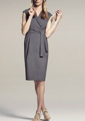 $ CDN221.50 • Buy MM Lafleur The Catherine Dress $295 Graphite Gray Size 8 Tie Waist Office Work