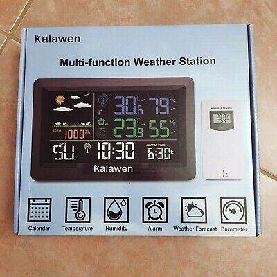 $33.88 • Buy Kalawen Wireless Weather Station, Digital Indoor Outdoor Thermometer