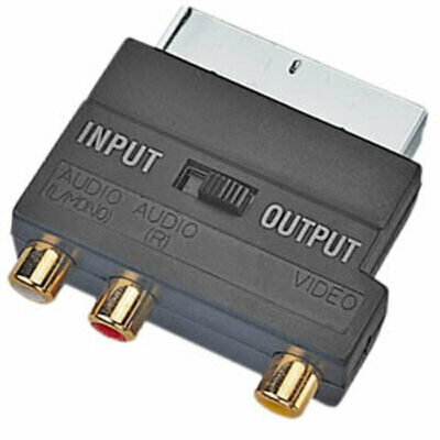 £4.29 • Buy Switched Scart Plug To 3 RCA Phono Sockets For TV Bluetooth Transmitter