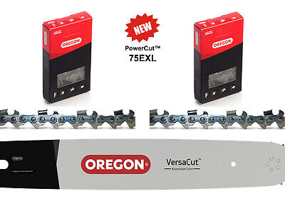 20  Oregon Chainsaw Bar 2x 72DL 75EXL Chains For Stihl MS460 MS461 MS462 046 • 70£