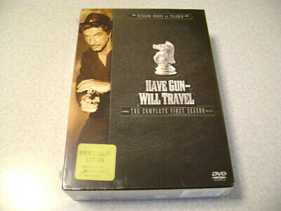 $8 • Buy Have Gun Will Travel - The Complete First Season (DVD, 2004, 6-Disc Set) Sealed