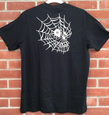 £8.99 • Buy Mens Swallows & Daggers T-shirt Bnwt Size Medium  Black With White Spiders Web